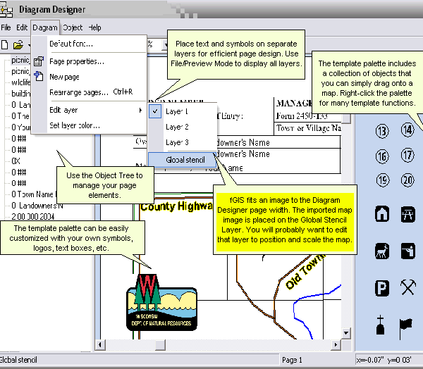 Forestpal as shown in the annotations above fgis fits the map image to the diagram designer page width the image is placed on the global stencil layer ccuart Gallery